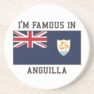 Famous In Anguilla Drink Coaster