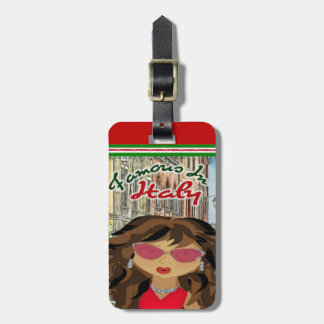 Famous in Italy Luggage Tag