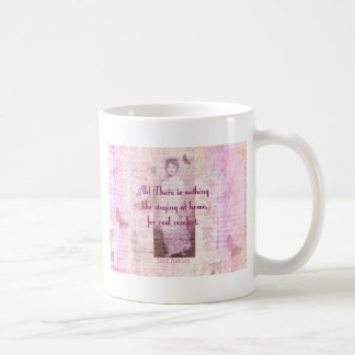 Famous Jane Austen quote about home sweet home Classic White Coffee Mug