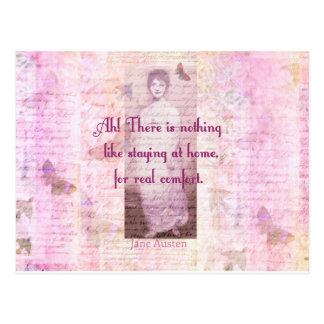 Famous Jane Austen quote about home sweet home Postcard
