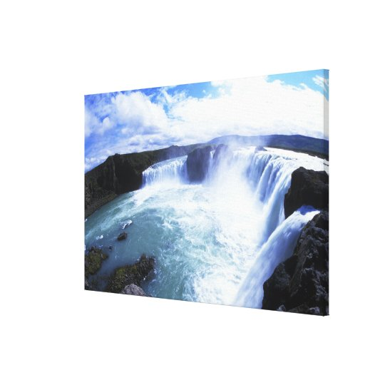Famous Jodafoss Falls in North Central Iceland Canvas Print