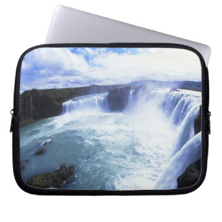 Famous Jodafoss Falls in North Central Iceland Laptop Sleeve