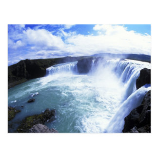 Famous Jodafoss Falls in North Central Iceland Postcard