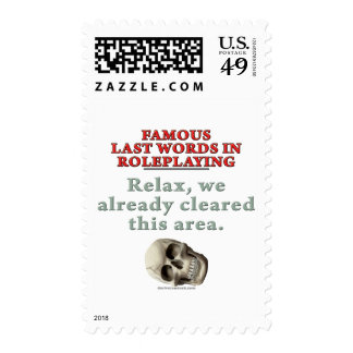 Famous Last Words in Role Playing: Cleared Stamps