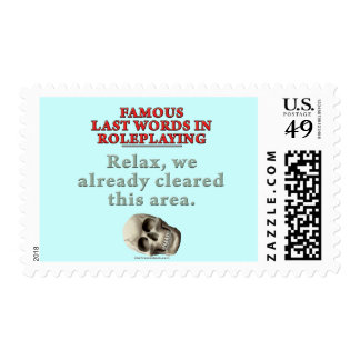Famous Last Words in Role Playing: Cleared Stamp