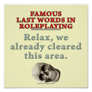 Famous Last Words in Role Playing Cleared Print