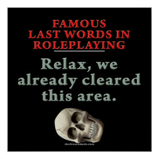 Famous Last Words in Role Playing Cleared Poster