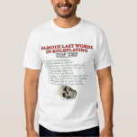 Famous Last Words in Roleplaying: Top Ten T-shirts