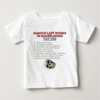 Famous Last Words in Roleplaying: Top Ten Tee Shirt