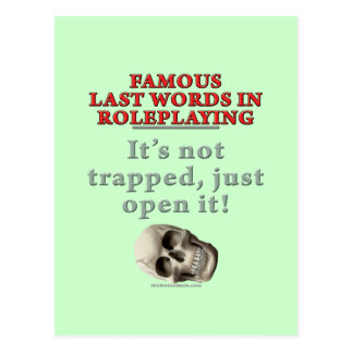 Famous Last Words in Roleplaying: Trapped Postcard
