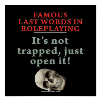 Famous Last Words in Roleplaying Trapped Poster