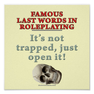 Famous Last Words in Roleplaying Trapped Print