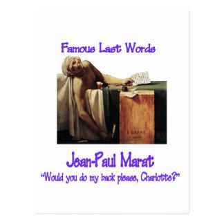 Famous Last Words Marat Postcard