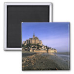 Famous Le Mont St. Michel Island Fortress in 2 Inch Square Magnet