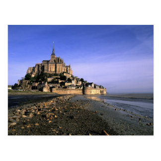 Famous Le Mont St. Michel Island Fortress in Postcard