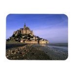 Famous Le Mont St. Michel Island Fortress in Rectangle Magnet