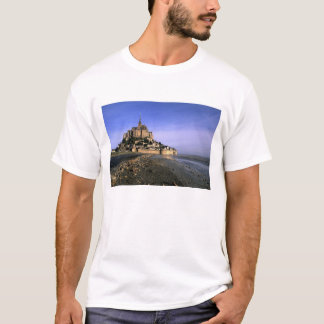 Famous Le Mont St. Michel Island Fortress in T-Shirt