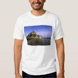 Famous Le Mont St. Michel Island Fortress in Tee Shirt