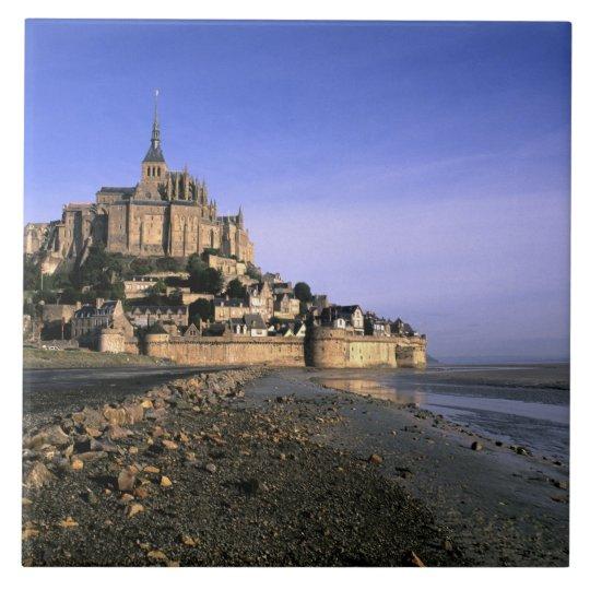 Famous Le Mont St. Michel Island Fortress in Tile