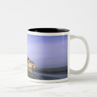 Famous Le Mont St. Michel Island Fortress in Two-Tone Coffee Mug