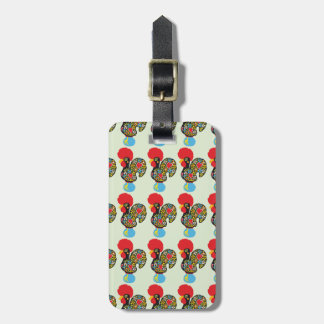 Famous Lucky Charm Rooster of Barcelos 06 Luggage Tag