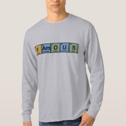 Men's Basic Long Sleeve T-Shirt with Famous design