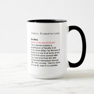Famous Misquotations - the Bible Mug