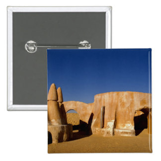 Famous movie set of Star Wars movies in Sahara 2 Inch Square Button