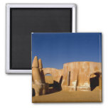 Famous movie set of Star Wars movies in Sahara 2 Inch Square Magnet