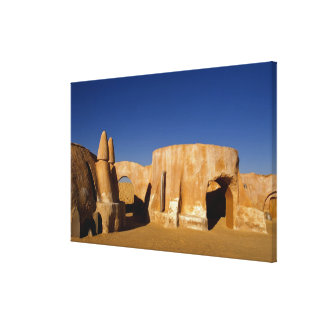 Famous movie set of Star Wars movies in Sahara Stretched Canvas Print