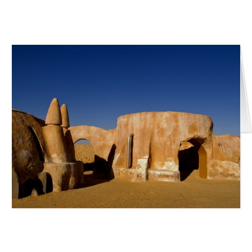 Famous movie set of Star Wars movies in Sahara Greeting Cards