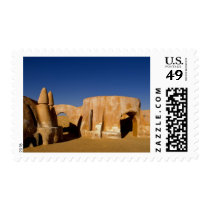 Famous movie set of Star Wars movies in Sahara Postage