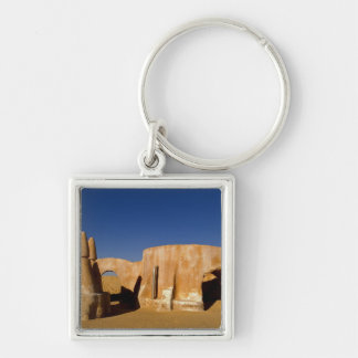 Famous movie set of Star Wars movies in Sahara Silver-Colored Square Keychain