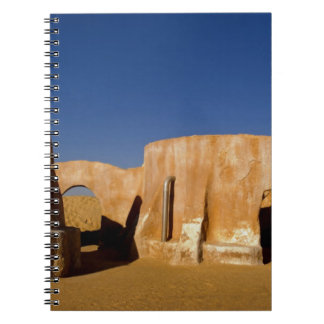 Famous movie set of Star Wars movies in Sahara Spiral Notebook