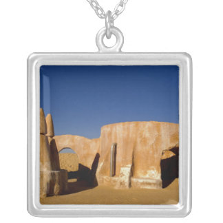 Famous movie set of Star Wars movies in Sahara Square Pendant Necklace