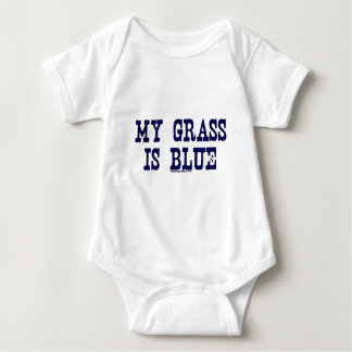 Famous My Grass Is Blue Baby Bodysuit