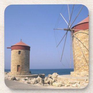 Famous old windmills of Rhodes Greece Coasters