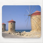 Famous old windmills of Rhodes Greece Mouse Pad