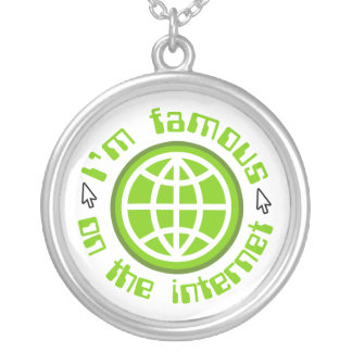Famous On The Internet Round Pendant Necklace