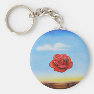 famous paint surrealist rose from spain keychain