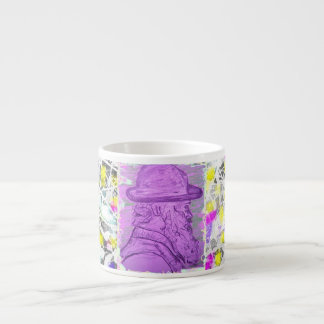 famous painter drip painting espresso cup