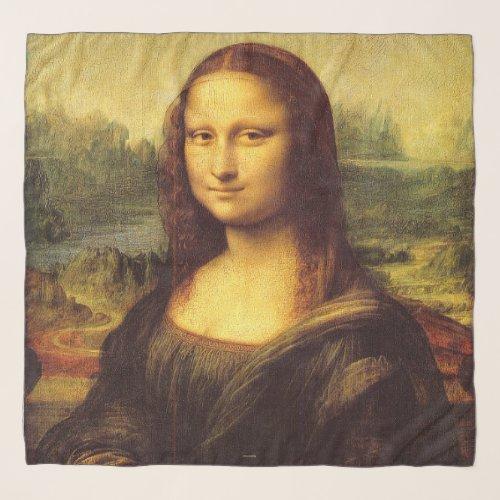Famous Painting Da Vinci Mona Lisa Chiffon Scarf