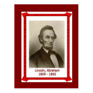 Famous people, Abraham Lincoln 1809-1865 Postcard