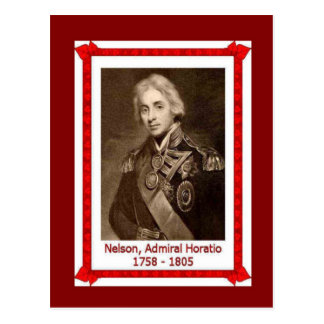 Famous people,Admiral Horatio Nelson 1758-1805 Postcard