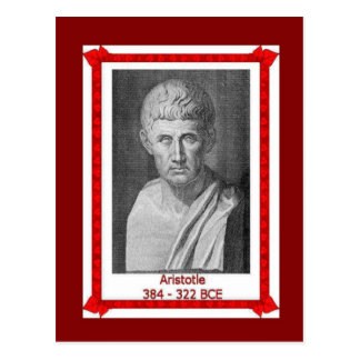 Famous people, Aristotle 384 - 322 BCE Postcards