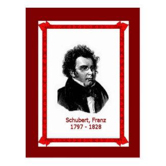 Famous people, Franz Schubert 1797-1828 Postcard