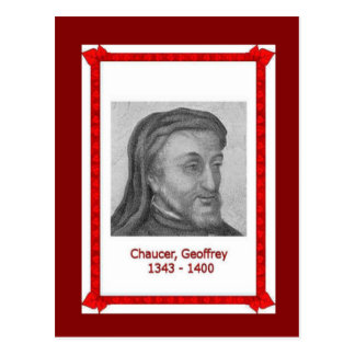 Famous people, Geoffrey Chaucer 1343-1400 Postcard