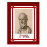 Famous people, Hippocrates, Postcard