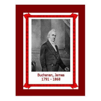 Famous people, James Buchanan 1701 - 1868 Postcard
