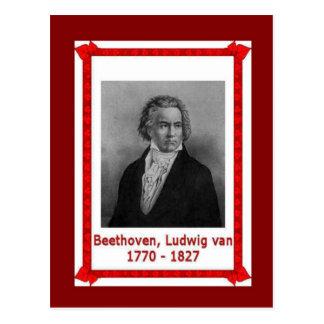 Famous people, Ludwig van Beethoven 170-1827 Postcard